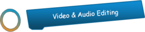 video audio editing btn